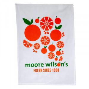 Moore Wilson's Orange Cotton Tea Towel