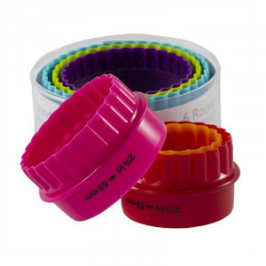 Multi Coloured Double Sided Round Cookie Cutter