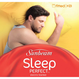 Sunbeam Sleep Perfect King Bed Fitted Heated Blanket