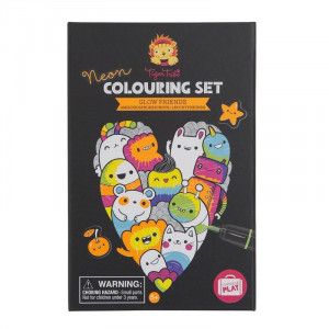 Tiger Tribe Neon Colouring Set