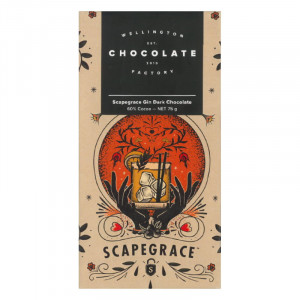 Wellington Chocolate Factory Scapegrace Gin Dark Chocolate Bar