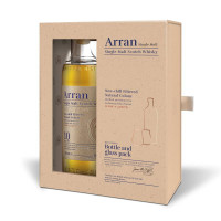 Arran 10 Year Old Single Malt Scotch Whisky Gift Pack With 2 Glasses