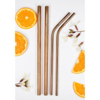 Caliwoods Rose Gold Mixed Pack of Straws