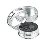 Crinkle Round Stainless Steel Cookie Cutter