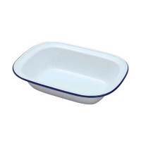 Falcon Enamel Oblong Pie Dish - 18cm