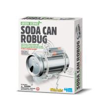 Green Science Soda Can Robug