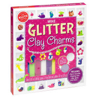 Klutz Make Glitter Clay Charms Craft Kit