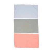 Knotty Colourblock Cotton Towel - Byron Bay
