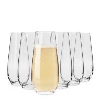 Krosno Vinoteca Stemless Champagne Flutes 6pack