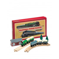 Retro Traditional Wooden Train Set
