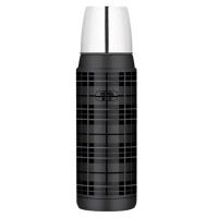 Thermos Vacuum Flask - Black Plaid