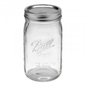 Ball Wide Mouth Quart Glass Preserving Jars