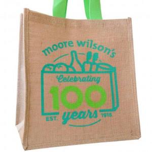 Moore Wilson's Celebrating 100 Years Jute Bag