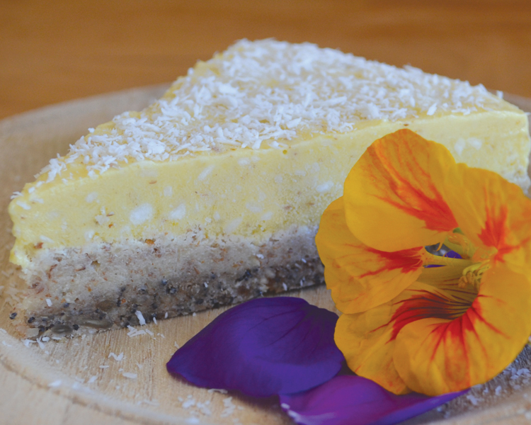 Raglan Coconut Yoghurt Mango and Coconut Raw Cake