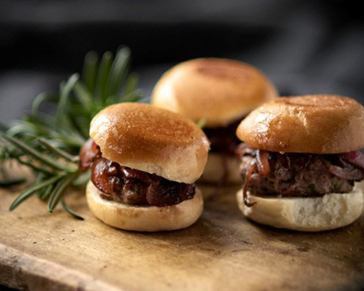 Loaf Mini Burger Sliders with Caramelised Onion Jam
