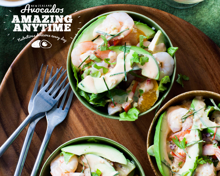Asian Avocado, Prawn and Orange Salad