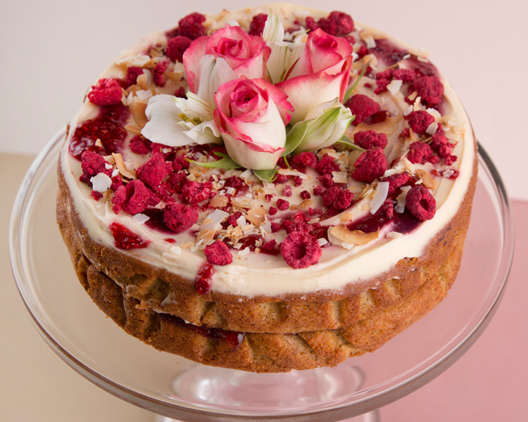The Caker's Orange Zest, Pear & Raspberry Cake