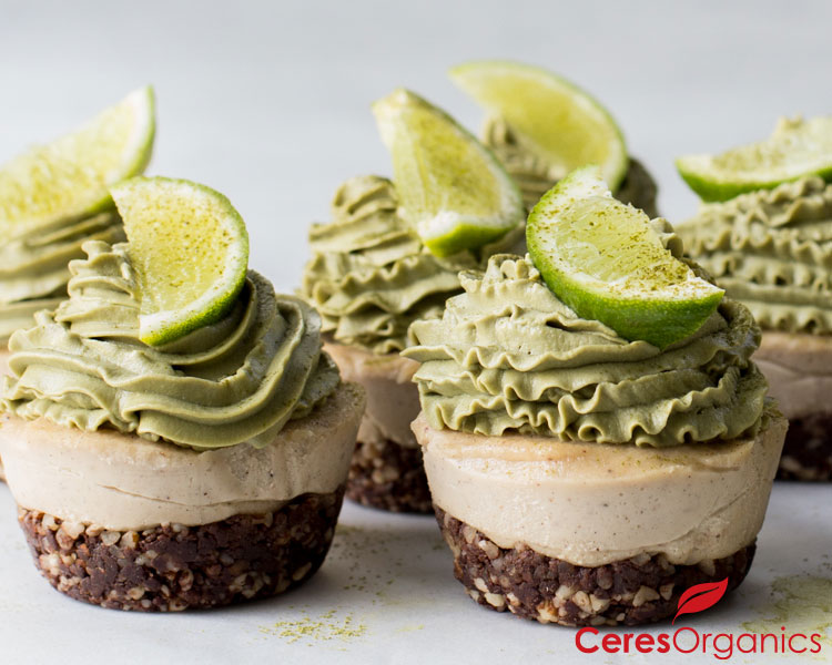 Mini Matcha Cheesecakes