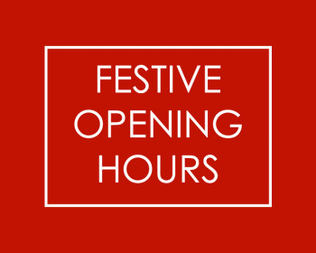 Festive Hours - In Store and Online