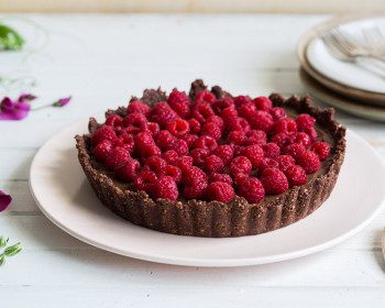 Megan May's Cacao & Raspberry Summer Torte