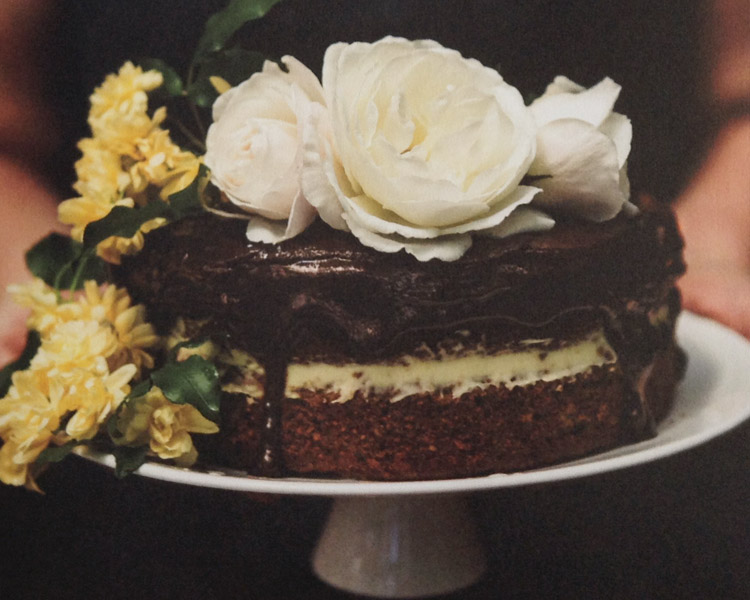 Pear & Chocolate Layer Cake