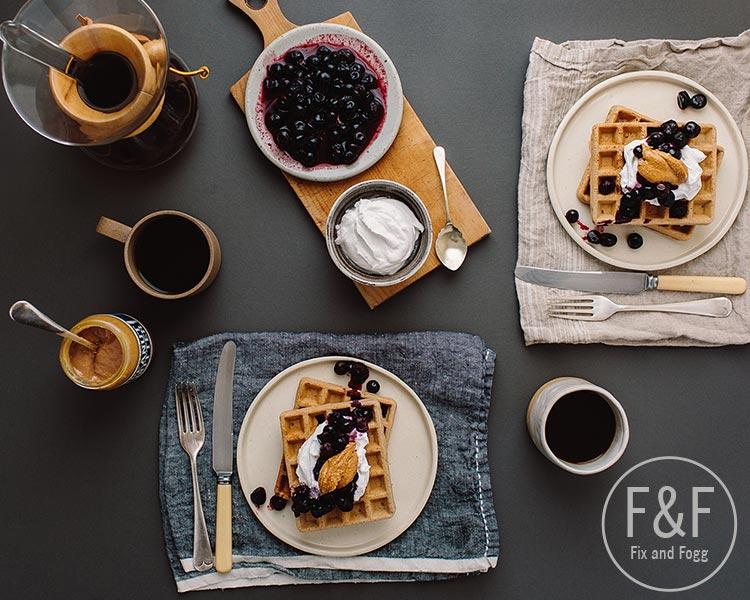 Fix & Fogg's Peanut Butter Buckwheat Waffles