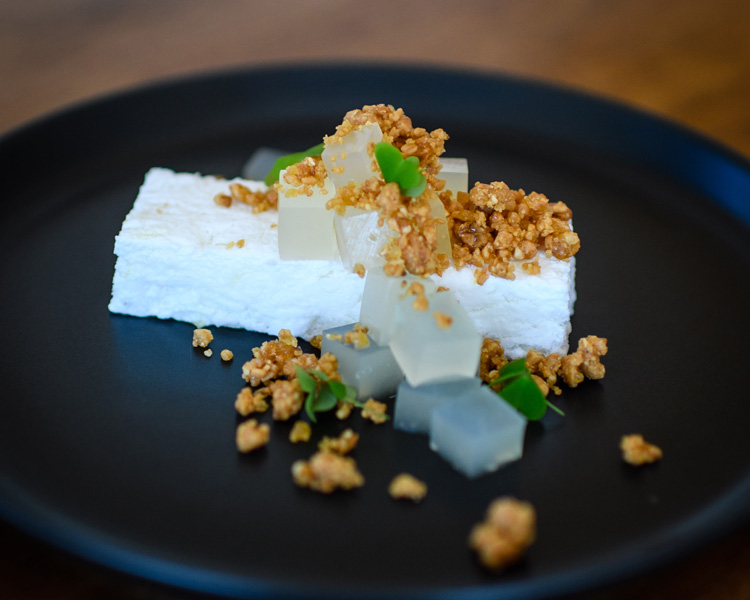 Salty Pidgin's Coconut Semifreddo with Lime Jelly & Peanut Crumble