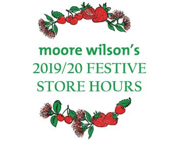 Festive Store Hours and Online Ordering