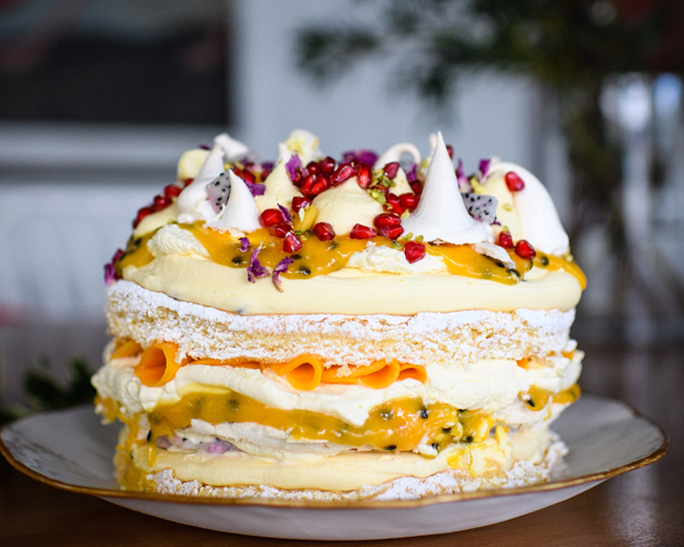 Tomboy's Tropical Trifle Cake