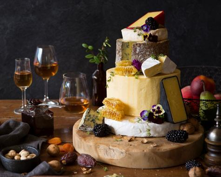 The celebration alternative - cakes made with rounds of cheese!