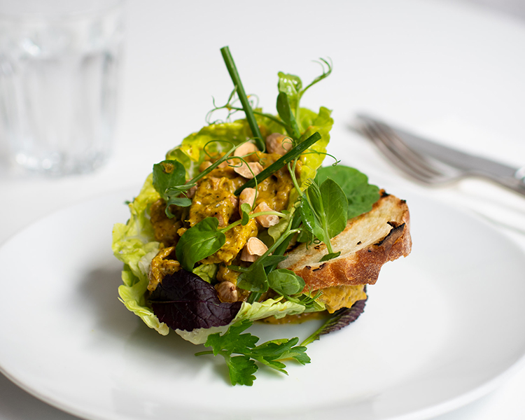Field & Green's Coronation Chicken with Baby Cos Lettuce and Roasted Almonds