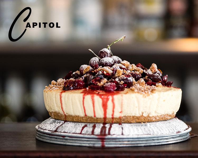 Capitol's Vanilla Cheesecake with Berries