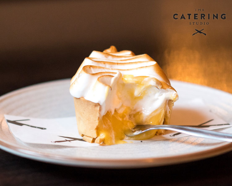 The Catering Studio's Yuzu Curd Tart with Vanilla Meringue
