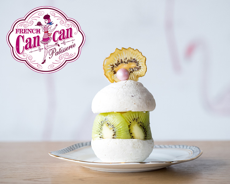 French Cancan's Kiwi Macaron with White Chocolate Cream