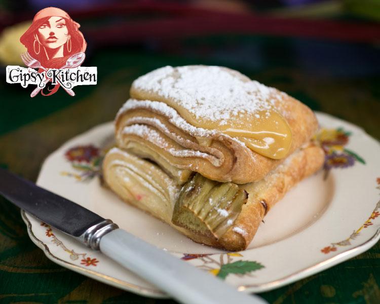 Gipsy Kitchen's Rhubarb Caramel Scones