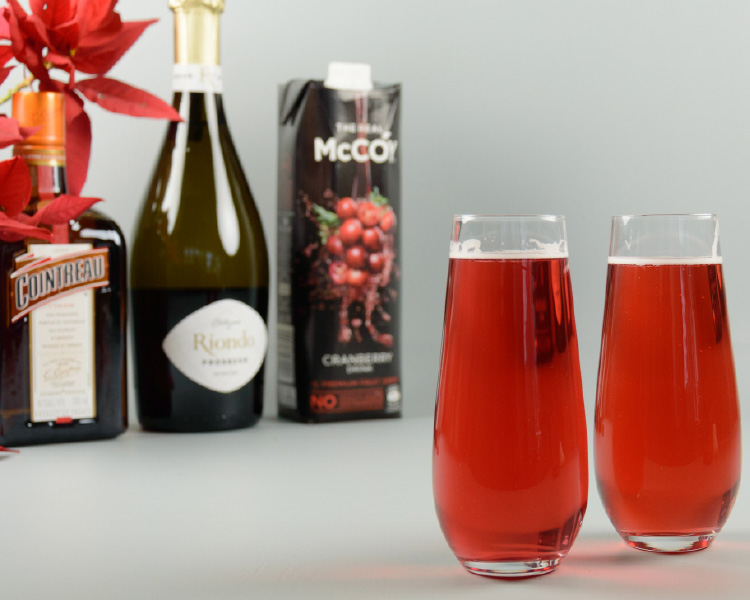 Festive Poinsettia Cocktail