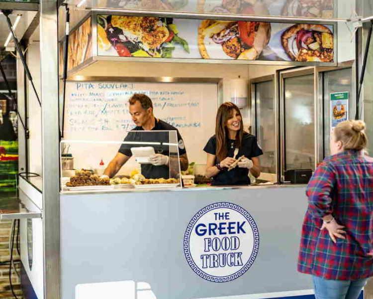 The Greek Food Truck at Moore Wilson's Tory Street