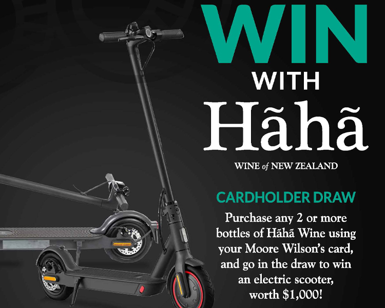 Cardholder Draw: Win an Electric Scooter worth $1000 with Hãhã Wines